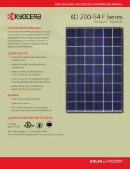 View Data Sheet-SMK connector version - KYOCERA Solar