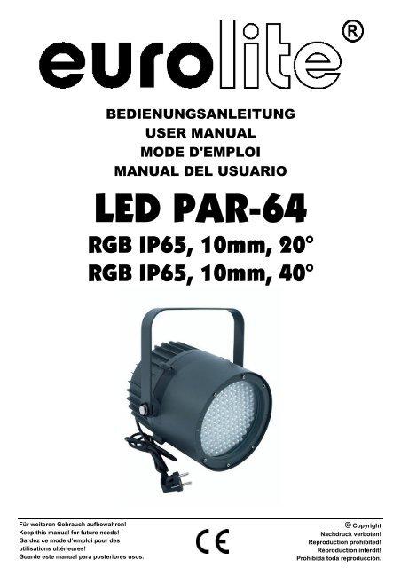 Eurolite led par-64 rgb spot short user manual megaomas.