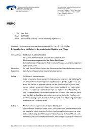 Zusammenfassung - Dialog Nationale Gesundheitspolitik