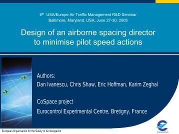 Design of an airborne spacing director to minimise ... - ATM Seminar