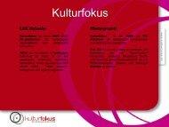 Oplæg Kulturfokus - nu også på tysk!