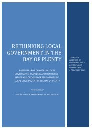 Rethinking Local Government IN THE BAY OF PLENTY