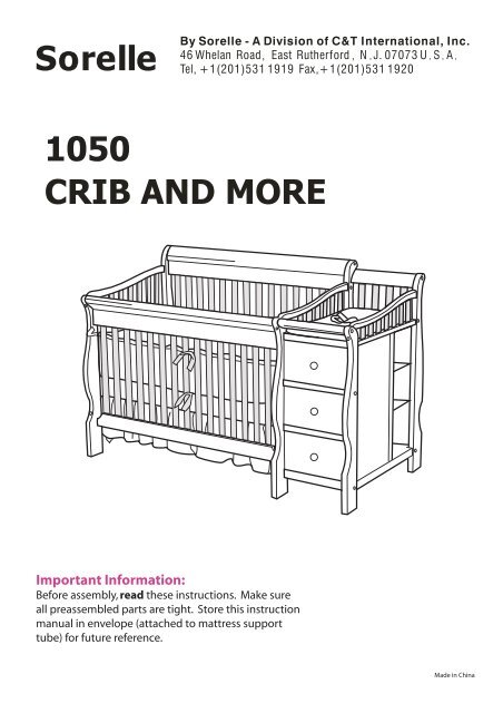 Sorelle Tuscany 4 In 1 Convertible Crib And Changer