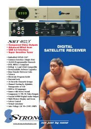 DIGITAL SATELLITE RECEIVER - MyTV