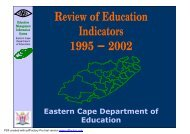 2001 - Eastern Cape Department of Education