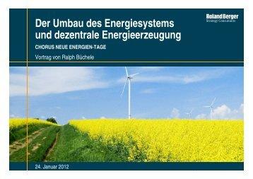 Der Umbau des Energiesystems und dezentrale Energieerzeugung