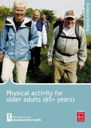 Physical Activity for older adults (65+ years) - BHF National Centre ...