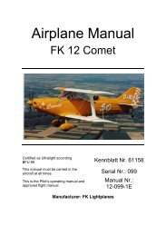 FK12 Flight Manual (English) - FK-Lightplanes