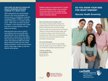 do you know your risk for heart disease? Vascular health screening
