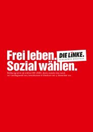 Wahlprogramm - DIE LINKE. Schleswig Holstein