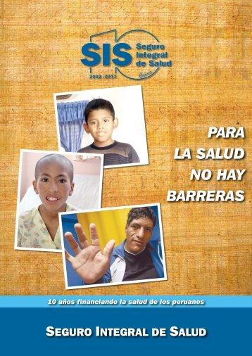 PARA LA SALUD NO HAY BARRERAS - Seguro Integral de Salud