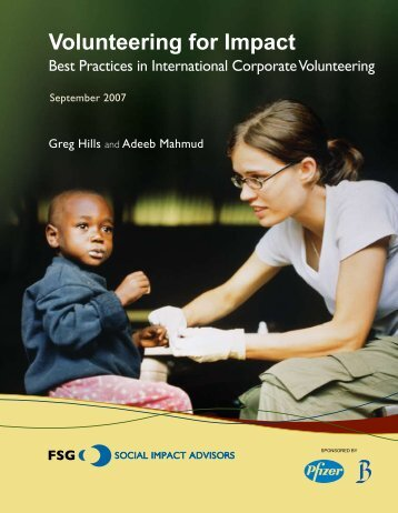 Volunteering for Impact - Brookings Institution