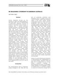 re-imagining citizenship in suburban australia - Australian Critical ...
