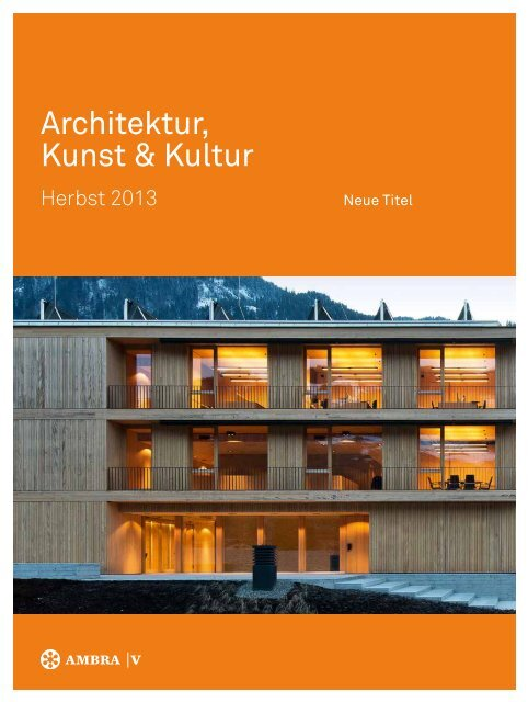 Verlagsvorschau Herbst 2013 - Ambra Verlag