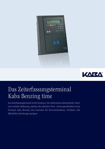 Das Zeiterfassungsterminal Kaba Benzing time - TimeDesign