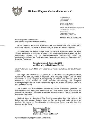 Rundschreiben 2 / 2011 - Richard Wagner Verband Minden eV