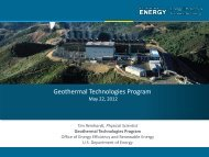 Federal Support for Geothermal Research & Demonstration