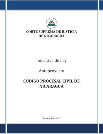 código procesal civil de nicaragua - Poder Judicial