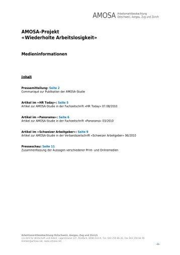 Medieninformationen - AMOSA