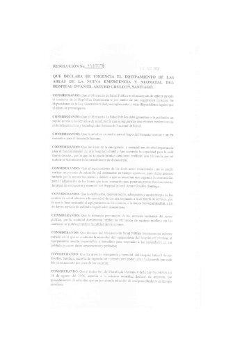 Resolución Nº. 0000006 del 10-02-2012 - Ministerio de Salud Pública