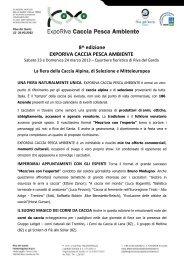 8^ edizione EXPORIVA CACCIA PESCA AMBIENTE