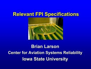 Relevant FPI Specifications - Iowa State University