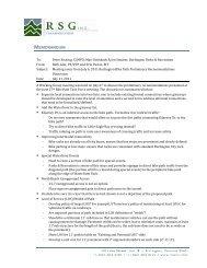 July 6, 2011 Steering Committee Meeting Minutes - Burlington Parks ...