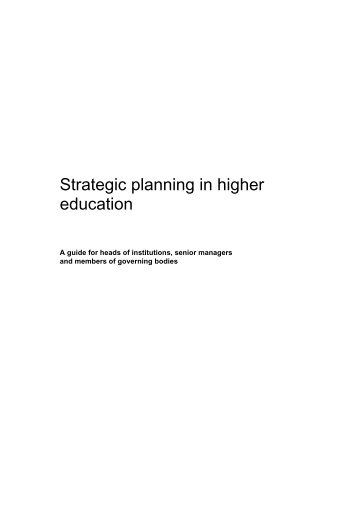 Strategic Planning in higher education