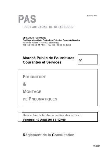 Marché Public de Fournitures Courantes et Services n° Règlement ...