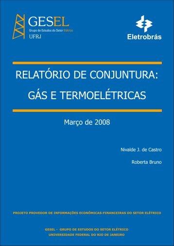 relatório de conjuntura: gás e termoelétricas - Nuca - UFRJ