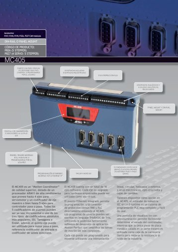MC405 datasheet SPANISH v2.indd - Trio Motion Technology
