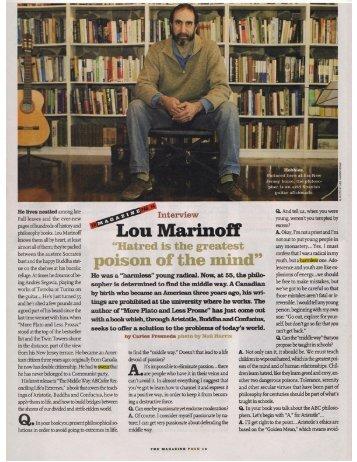 el mundo - Lou Marinoff