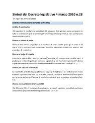 Sintesi del Decreto legislativo 4 marzo 2010 n.28 - ADR Center