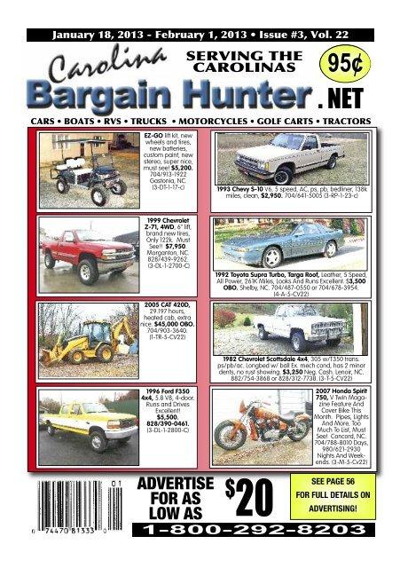 low carolina bargain hunter yumpu