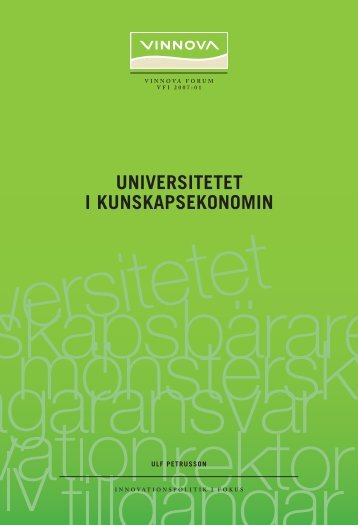Universitetet i kunskapsekonomin - Vinnova
