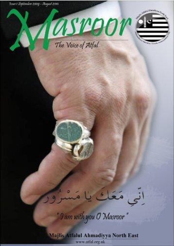 Masroor Magazine - North East | - Majlis Khuddamul Ahmadiyya UK