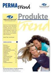 Prospekt Produkteübersicht - Permatrend AG