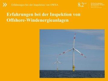 Erfahrungen bei der Inspektion von Offshore-Windenergieanlagen