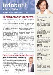 Die Region gut vertreten - Angelika Weikert, MdL