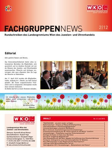 FachgruppEnNews 2 - e-reader.wko.at - Wirtschaftskammer Wien