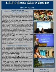 Iseo Summer School 2011 leaflet