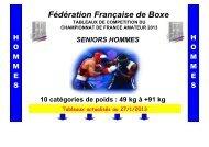 CHAMPIONNAT DE FRANCE AMATEUR SENIORS HOMMES 2013 ...