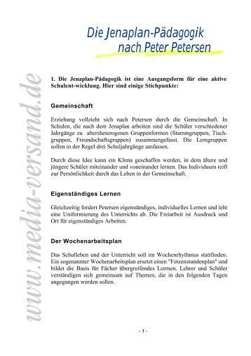 Die Jenaplan-Pädagogik nach Peter Petersen - Media-Versand