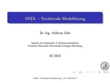 VHDL-Kurzkurs: Strukturbeschreibung - Friedrich-Alexander ...