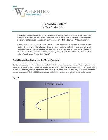 The Wilshire 5000 - Wilshire Associates