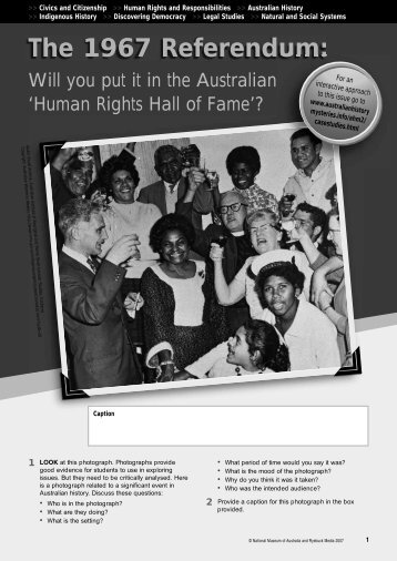 The 1967 Referendum (PDF 1.4 MB) - National Museum of Australia