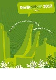 Kevätpäivät 2012 - Lahden ammattikorkeakoulu
