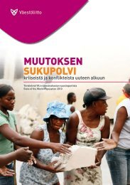 Muutoksen sukupolvi - Kriiseistä ja konflikteista uuteen ... - Väestöliitto