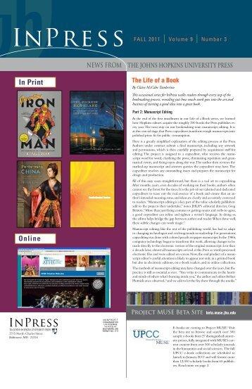 Fall 2011 - The Johns Hopkins University Press