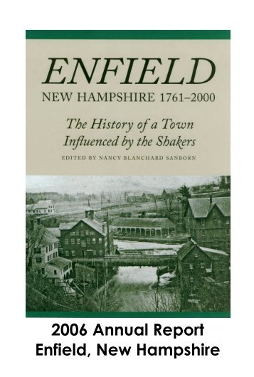 2006 Annual Report Enfield, New Hampshire - Town of Enfield
